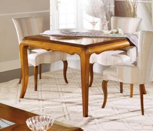 Tavolo quadrato 120-170 cm sagomato