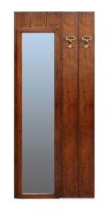Appendiabiti con specchio per ingresso