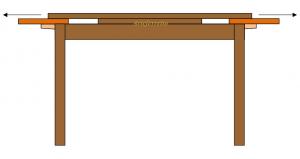 Tavolo allungabile  in stile classico 180-280 cm