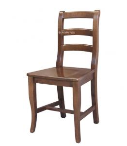 Sedia classica in legno schienale alto