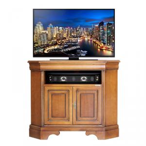 Porta TV ad angolo salva spazio in legno