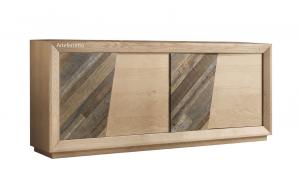 Madia 4 ante inserti in legno antico