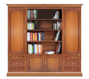 Composizione con vano libreria centrale