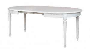 Tavolo ovale laccato 130-210 cm 'Empire'