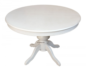 Tavolo tondo con allunghe stile Luigi Filippo 120