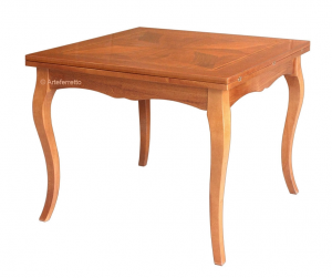 Tavolo intarsiato quadrato 100-200 cm