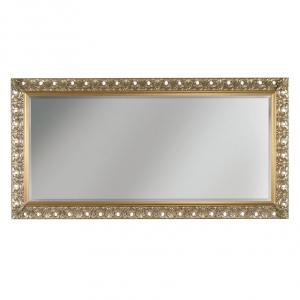 Specchiera legno foglia oro