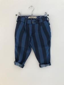 Pantalone a righe blu e blu scure