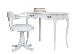Scrittoio con sedia abbinata laccata bianco