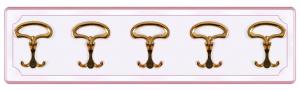 Appendiabiti laccato rosa 5 elementi