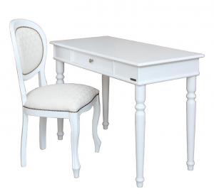 Composizione scrittoio sedia laccati bianco