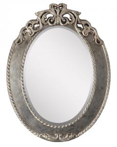 Specchiera ovale oro e argento