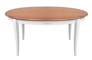Tavolo ovale bicolore con piano allungabile