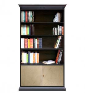 Libreria con ripiani e ante bronzate