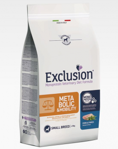 EXCLUSION METABOLIC E MOBILITY MONOPROTEIN VET DIET  MAIALE E FIBRE SMALL BREED