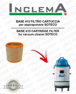 BASE 415 FILTRO CARTUCCIA per aspirapolvere SOTECO