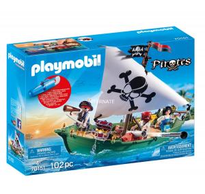 PLAYMOBIL PRIRATES - NAVE PIRATA CON MOTORE SUBACQUEO cod. 70151