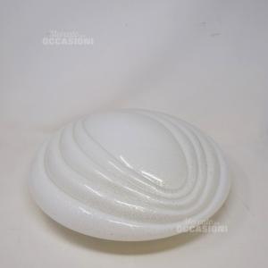 Plafoniera In Vetro Bianco E