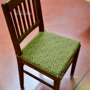 6 Sedie In Vero Legno Con Cuscino