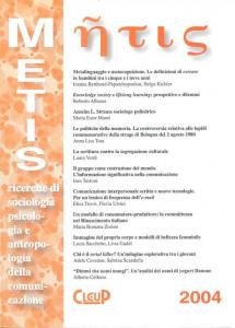 Metis 2004-Vol. XI, N. 1, 2004