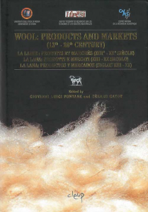 Wool: products and markets (XIII-XX cy)