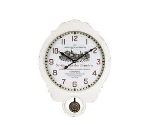 Orologio da parete a pendolo bianco