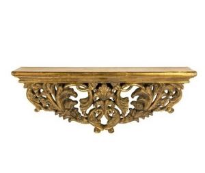 Mensola oro stile barocco foglie