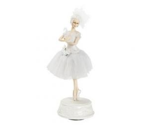 Carillon ballerina danza classica bianco
