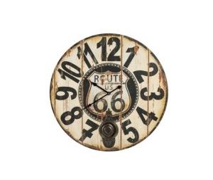 Orologio da parete a pendolo route 66