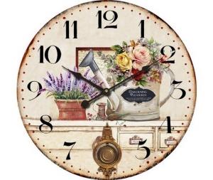 Orologio da parete a pendolo fiori