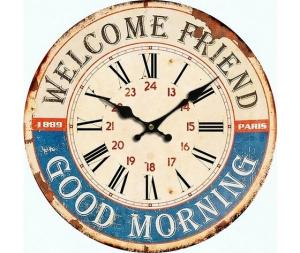 Orologio da parete welcome