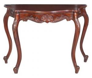 Consolle tavolino in legno mogano Stile Classico 112x48x74cm
