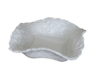 Coppa quadra ceramica bianco