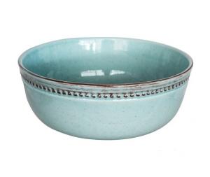 Insalatiera alta ceramica turchese