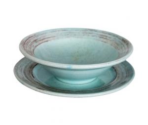 Coppia piatti ceramica turchese