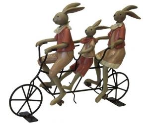 Coniglietti in tandem soprammobile