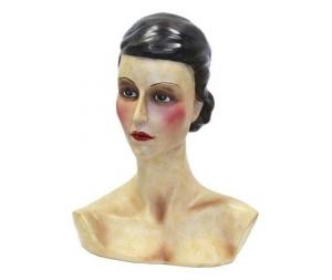 Busto di donna in resina 30x13x37cm