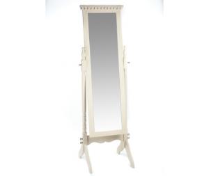 Specchio da terra bianco avorio 54x50x169cm Stile Shabby Chic