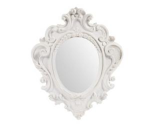 Specchio da parete in legno lavorato bianco 31x4x38cm