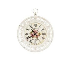 Orologio con cornice bianco Paris