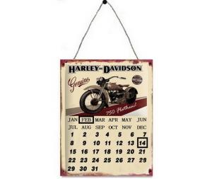 Pannello calendario in metallo Harley Davidson