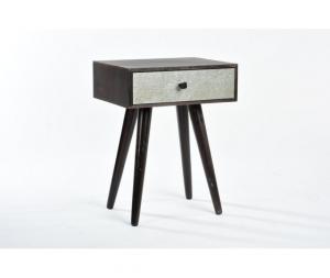 Comodino legno marrone  1 cassetto New Retr˜