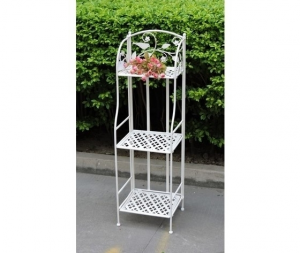 Etagere in ferro bianco giardino terrazzo