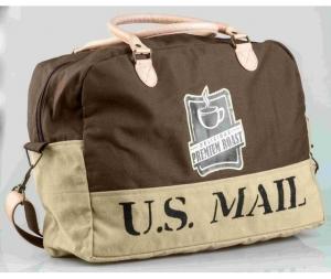 Borsone da viaggio cotone con tracolla Us mail