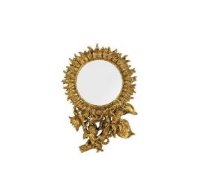 Specchio a forma di sole cornice oro con angeli Stile Barocco