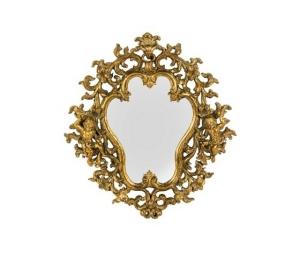 Specchio cornice oro con angeli fiori e foglie Stile Barocco