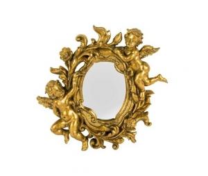 Specchio cornice oro con angeli e foglie Stile Barocco
