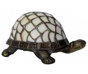 Lampada da tavolo Tiffany tartaruga bianco