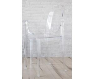 Sedia in plexiglass trasparente, set di due sedie