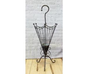 Portaombrelli in ferro battuto nero forma di ombrello